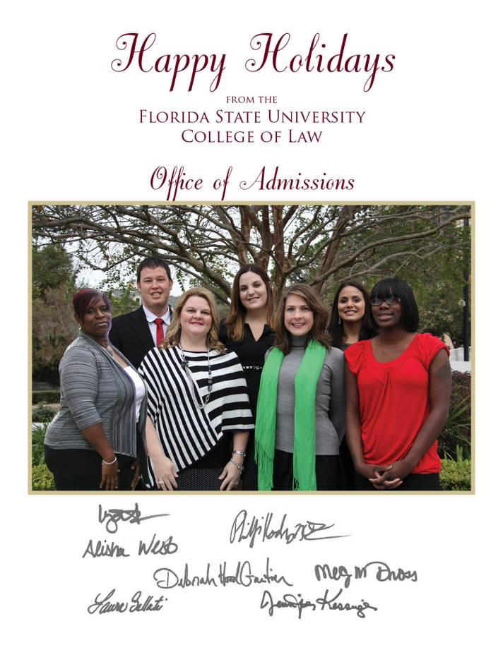 Happy Holiday's From the Office of Admissions