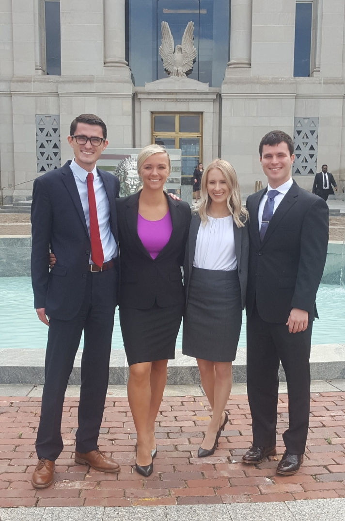 Trial Team in front of U.S. District Courthouse In Montgomery